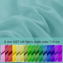 1 meter 8 mommes silk fabric for sewing georgette cloth solid thin and hang well quilting patchwork tulle DIY needlework