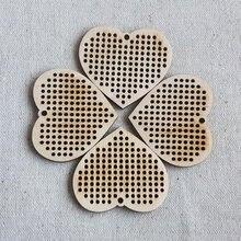 50 шт современные деревянные наборы для вышивки крестиком