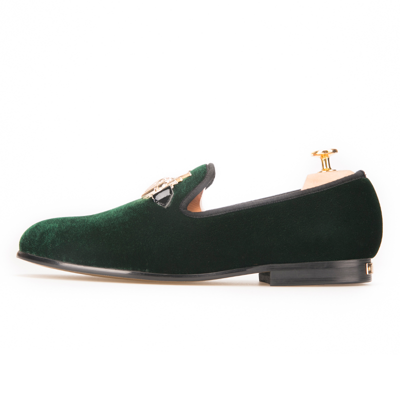Piergitar Terciopelo De Del Partido Vestir Tamaño Zapatos Los Y Grandes Elegante Verde Antílope Hebilla Nuevos Con Boda 2018 Hombres qwrSxrnXI