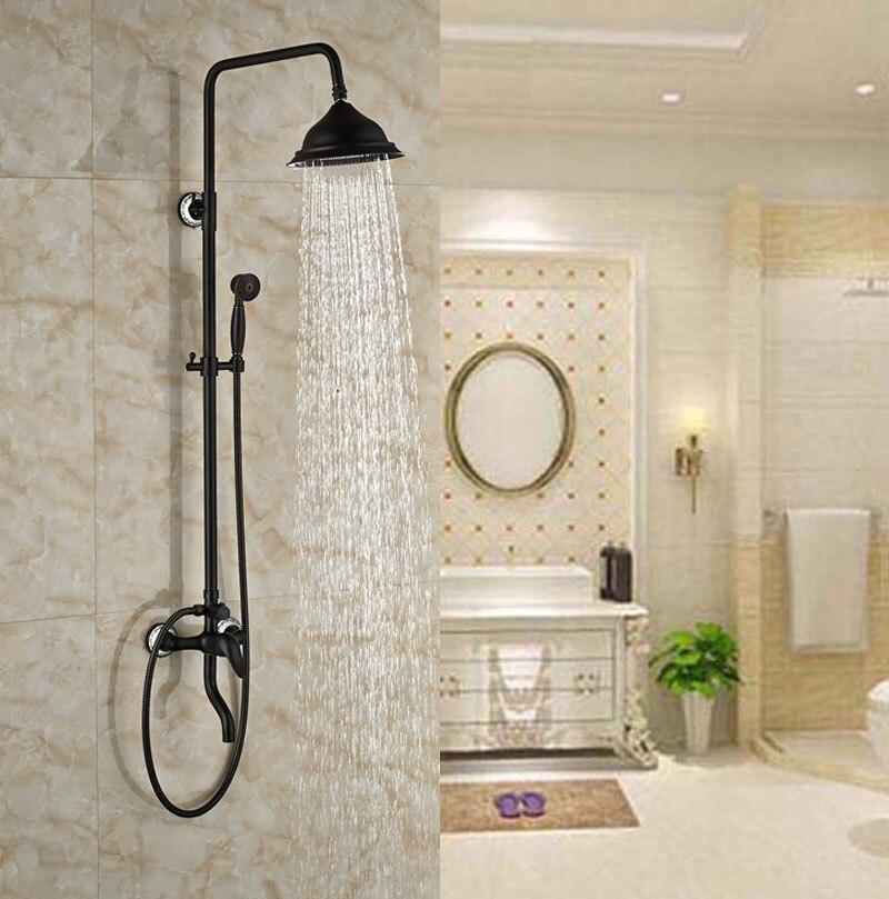 Luxury Oil Rubbed Broze Shower Set Bathroom Shower Units Three Holes ...