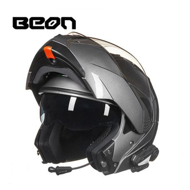 2019 New Netherlands BEON undrape face motorcycle helmet open face motorbike helmets with Bluetooth made of ABS PC lens visor 3