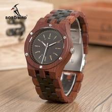 BOBO BIRD WN18 Wooden Watches Erkek Saatler Top Luxury Wood Band Quartz Watch for Men Logo
