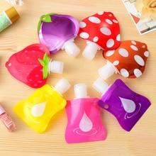 1pcs Lovely Travel portable Mini hand sanitizer Shampoo Makeup fluid bottle Bathroom products packaging bottles Free