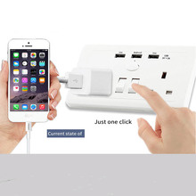13A 146 UK switch wall socket with USB smart charging Mobile phone charger panel