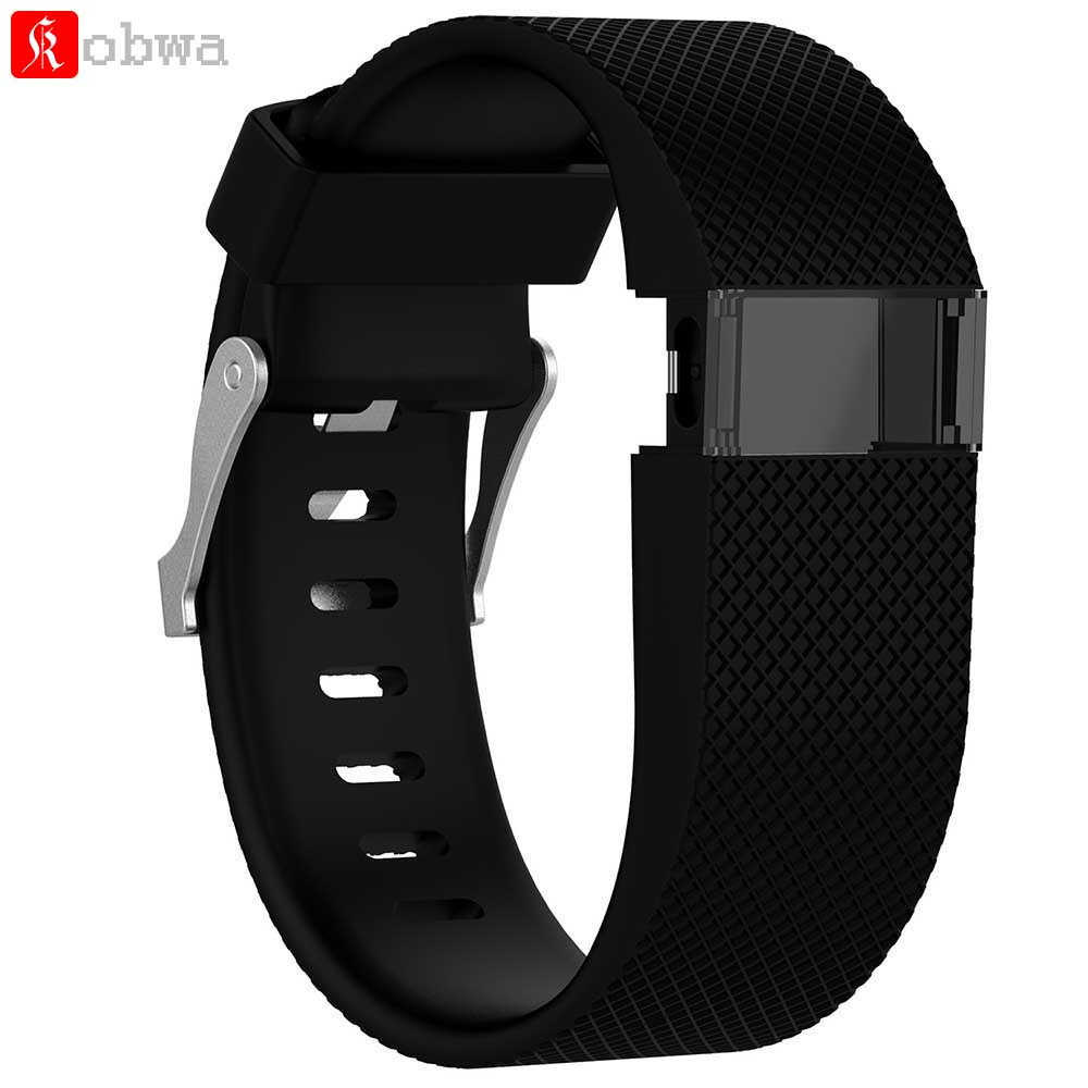 For <font><b>Fitbit</b></font> <font><b>Charge</b></font> <font><b>HR</b></font> Replacement Watch Strap Silicone Watchband for <font><b>Fitbit</b></font> <font><b>Charge</b></font> <font><b>HR</b></font> Activity Tracker Metal Buckle Wrist Band