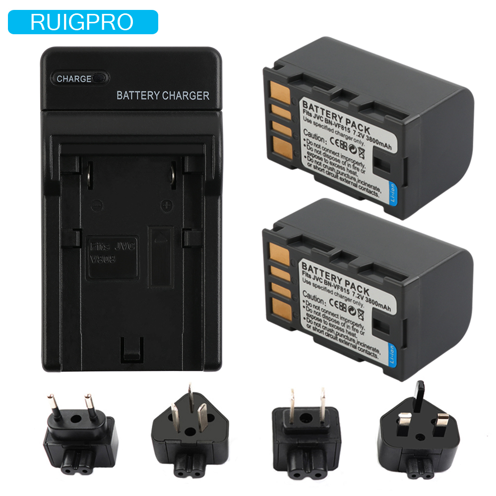 3800 mah BN-VF823 BN-VF823U BN-VF815 BN-VF808 Batterie pour JVC GZ-HD7 GZ-MG575 GZ-MG555 GR-D750 GR-D760 GZ-HD3 GR-D720 + Chargeur