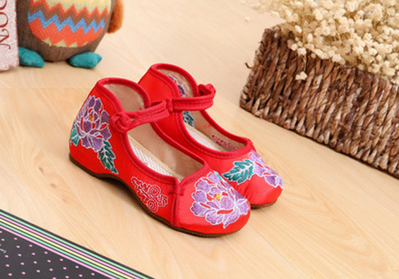 Embroidered Girls Shoes National Style  Kids Shoes  Children Shoes Floral Kinderschoenen