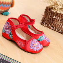 Embroidered Girls Shoes National Style Kids Shoes