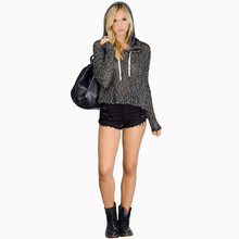 Hoodies Women 2016 Long Sleeve Hoodie pullovers Black Brand Sweatshirts elegant Slim Tracksuit tops