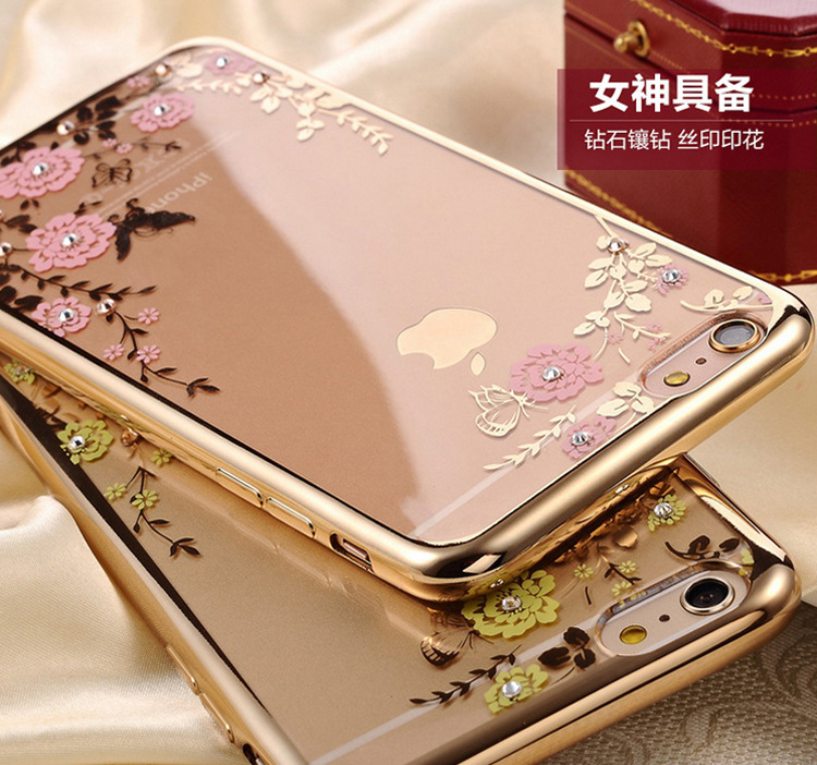 Cover Flower Diamond Cases For iPhone 8 4S 5 5S SE 6 6S 7 Plus X For Samsung  Galaxy S5 S6 S7 Edge S8 Plus J3 J5 J7 A3 A5 Note 8-in ... ef8d88d5c87ff