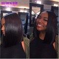7A Short Bob Wig Glueless Full Lace Human Hair Wigs Virgin Brazilian Hair Bob Lace Front Wigs For Black Women U Part Bob Wig