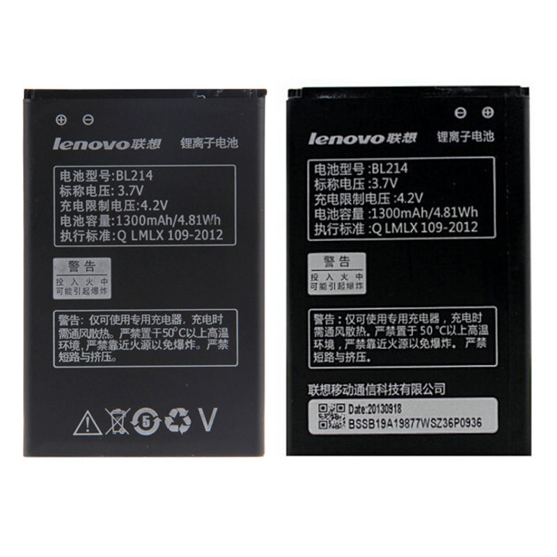 Original for Lenovo Mobile Phone Battery BL214 For Lenovo A300T A269I A218t 1300mAh+Tracking data+Tracking number