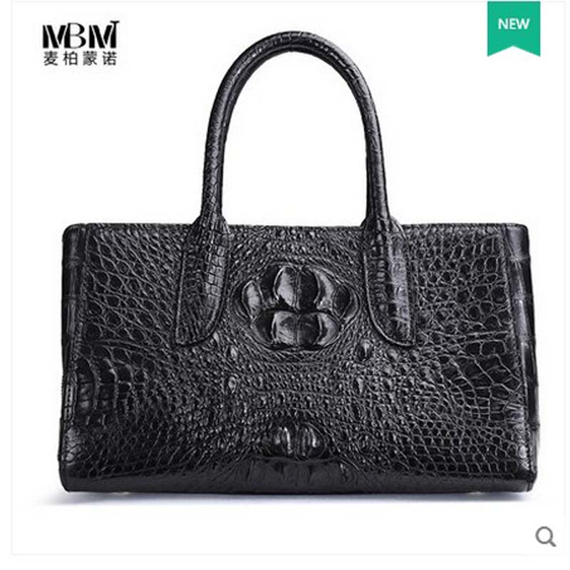 2018 maibomengnuo The new Thai crocodile women handbag lady single shoulder bag genuine alligator skin women bag