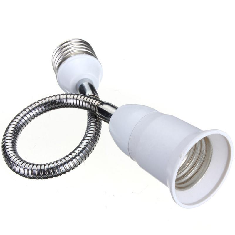 E27 LED Light Screw Bulb Lamp Holder Flexible Extension Adapter Socket for Home Bedroom Lighting Accessories Night Light Holder - Цвет: 40cm