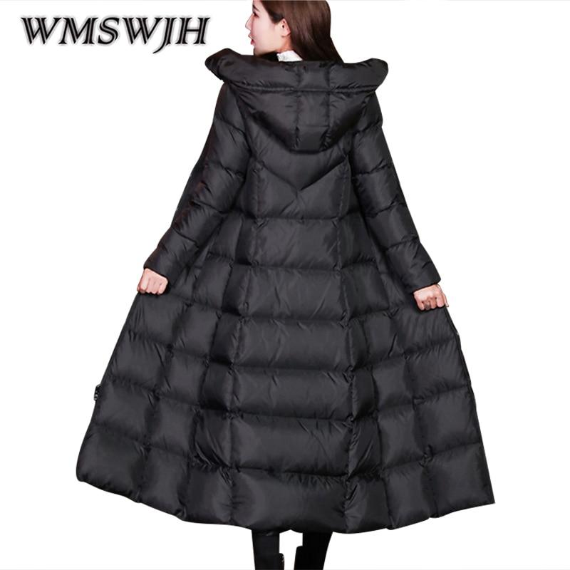 Mode Épais Vestes A116 Femmes Taille Parka Plus Black Duvet Canard D'hiver 2018 De Slim Hiver Pardessus La Blanc Long Veste Et Manteaux Fz6qxAwX