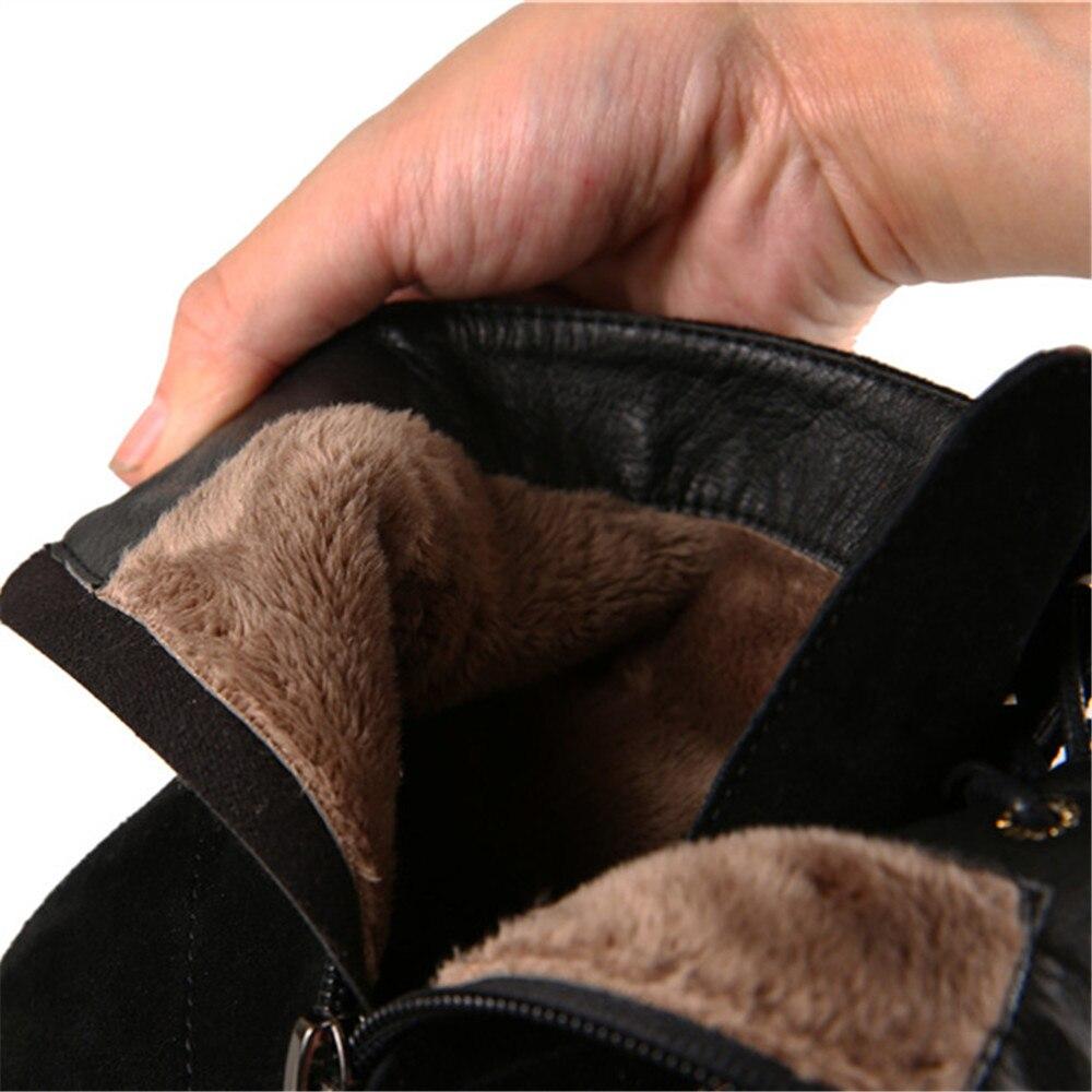 Invierno De Occidental Zipper Black Cruz Suede Vaca Insicre Talón gray  Gruesa Gran Zapatos 6 Punta 32 Mujeres ... f5ae3f61c127