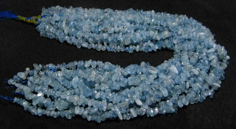 loose beads Aquamarine baroque 3-5mm 15 for DIY jewelry making FPPJ wholesale beads nature gem stone