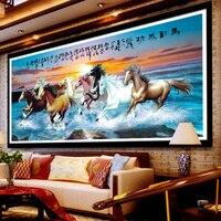 Crystal Rhinestone Pasted Painting 5d Diy Big Size Living Room Decor Cross Stitch Diamond Painting 8