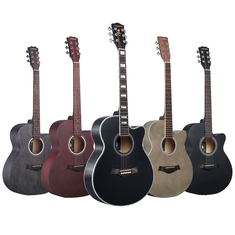 Andrew 40/41-inch folk guitar acoustic guitar full mahogany picea asperata