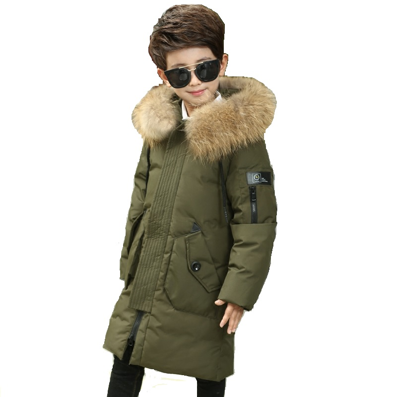 Big Boys Duck Down Jacket Big Boys Warm Parkas Winter Down Coat Thickening Outerwear with Hooded for Russian Winter -30 degree 2015 new hot winter thicken warm woman down jacket coat parkas outerwear hooded splice mid long plus size 3xxxl luxury cold