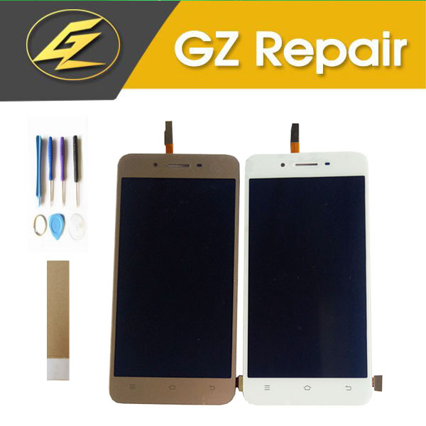 5.0 Inch For Vivo Y53 LCD Display With Touch Screen Digiziter Glass Sensor Assembly Gold White Color With Tools Tape5.0 Inch For Vivo Y53 LCD Display With Touch Screen Digiziter Glass Sensor Assembly Gold White Color With Tools Tape