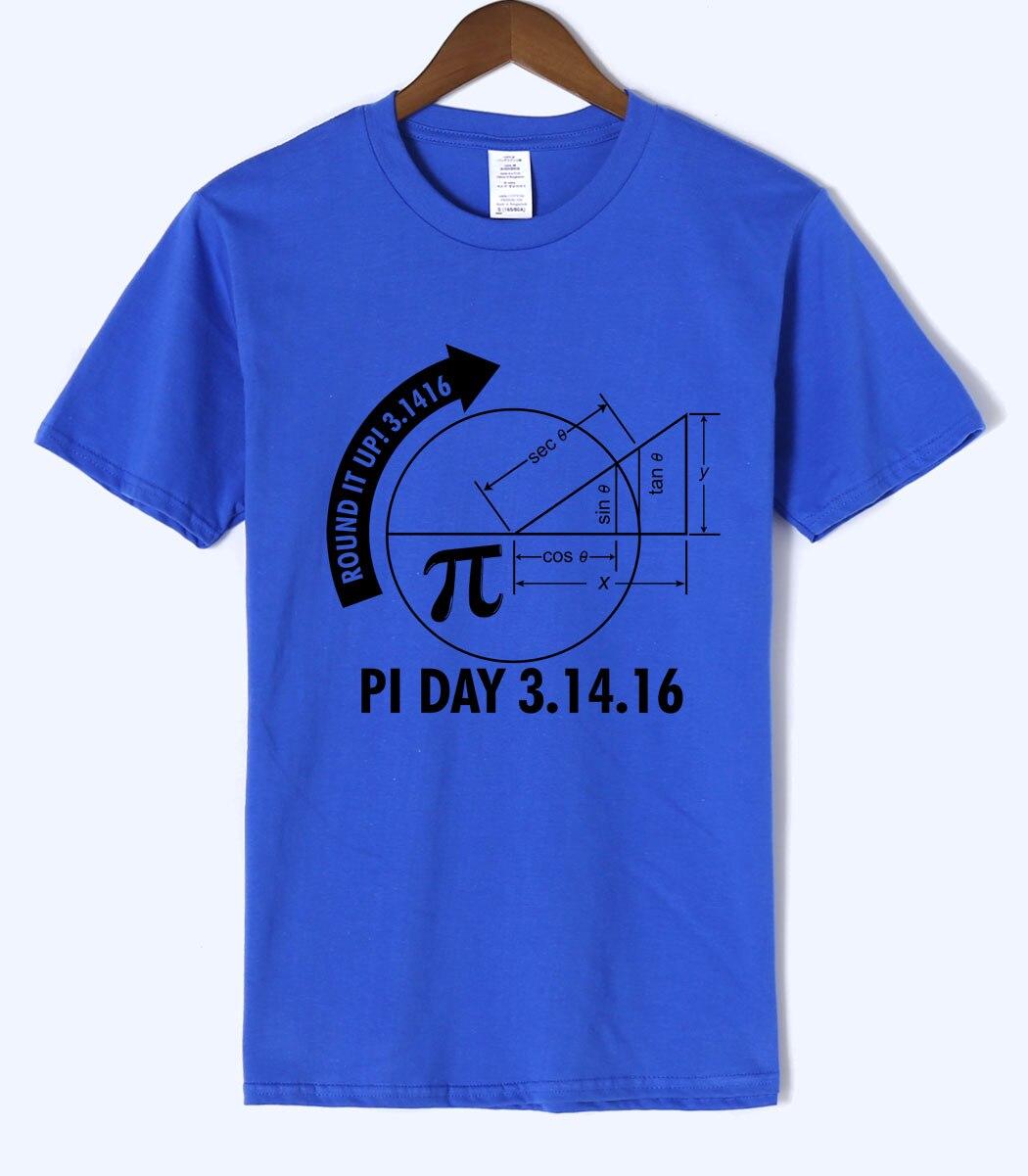 Pi Day 3.1416 Round It Up Math Graph 2018 Summer New Style Mens T Shirts 100% Cotton High Quality Short Sleeve Harajuku T-Shirts