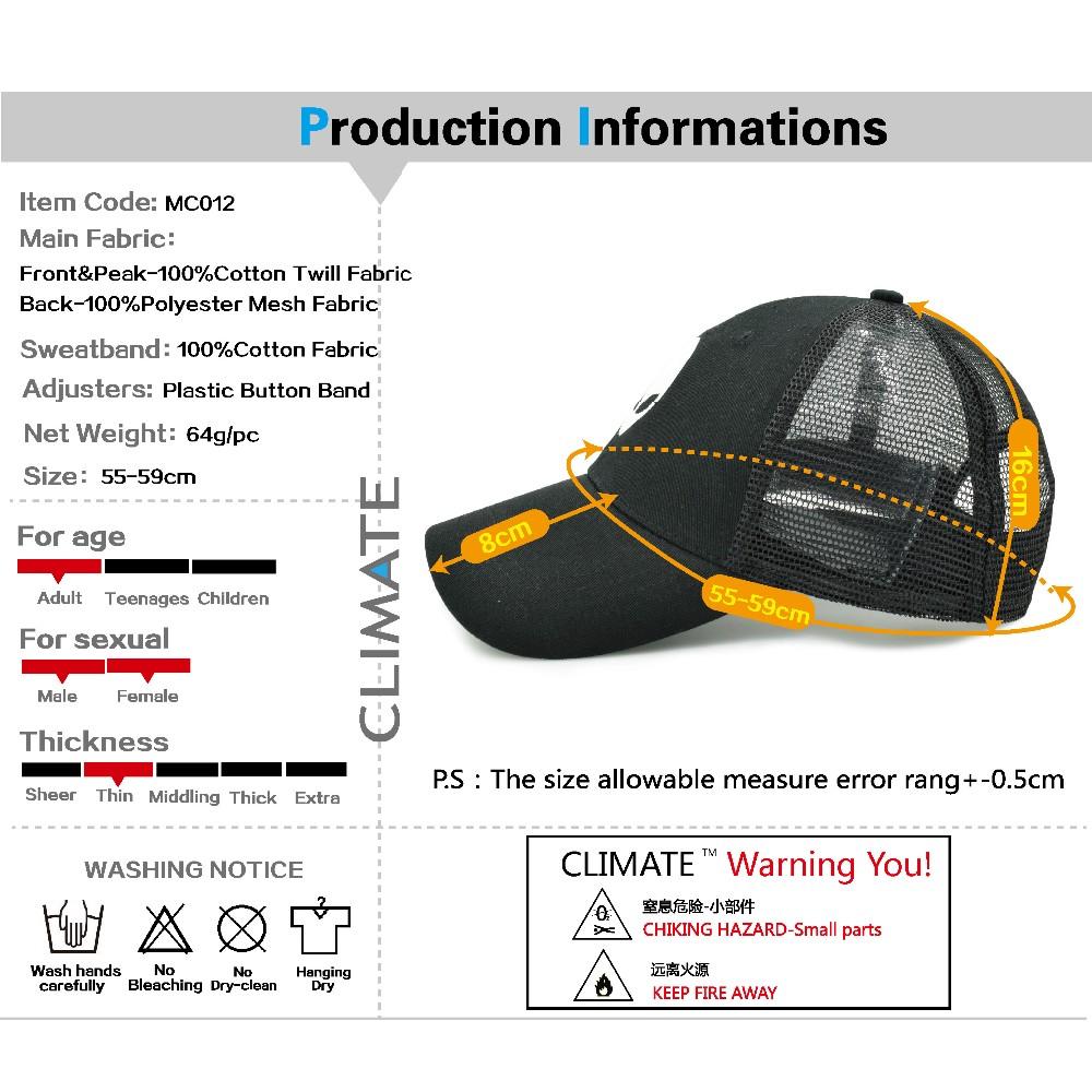 black trucker hat INFOmc12-01