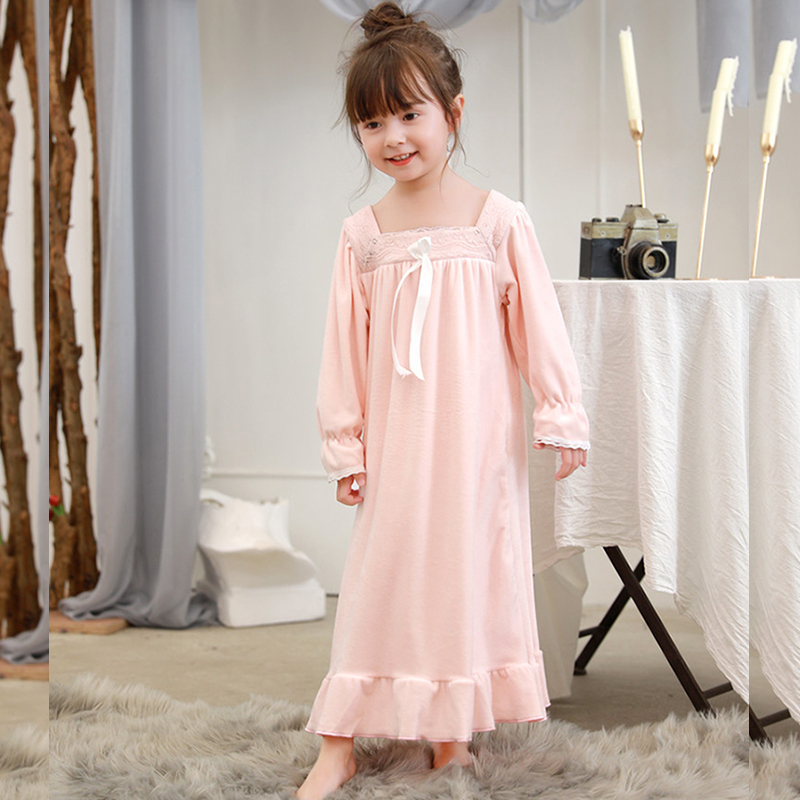 Nightgowns For Women Nightgown Children Nightgowns Youngsters Women Sleep Put on 8236