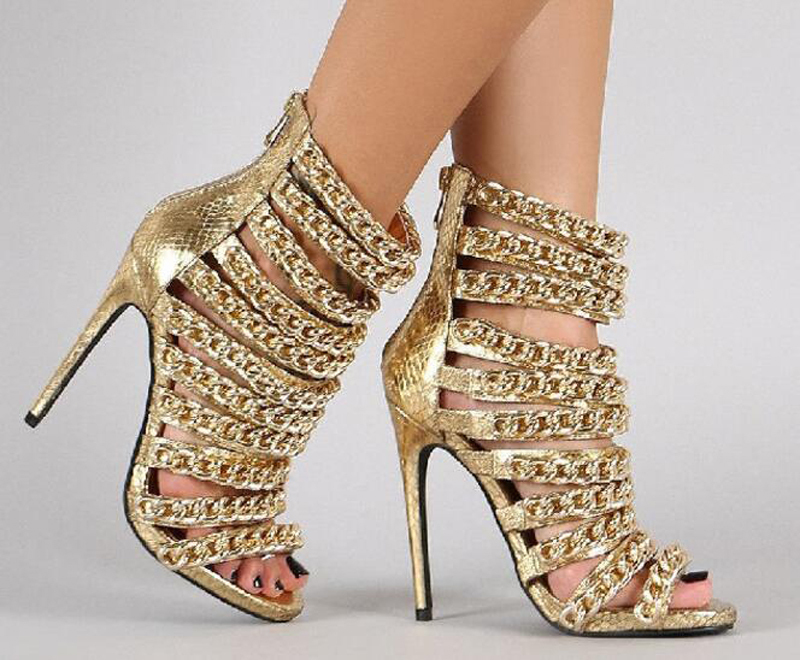 Gold Chain Heels
