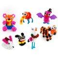 2016 Magic Puffer Bola 400 Peças Acessórios Construir Mega Pack Animais DIY Montagem Spot Melhor Bloco de Conjuntos de Brinquedos Para Crianças