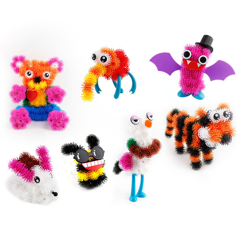 2017 Magic Puffer Ball 400 Pieces Accessories Build Mega Pack Animals DIY Assembling Spot Best Block Toy Sets For Children