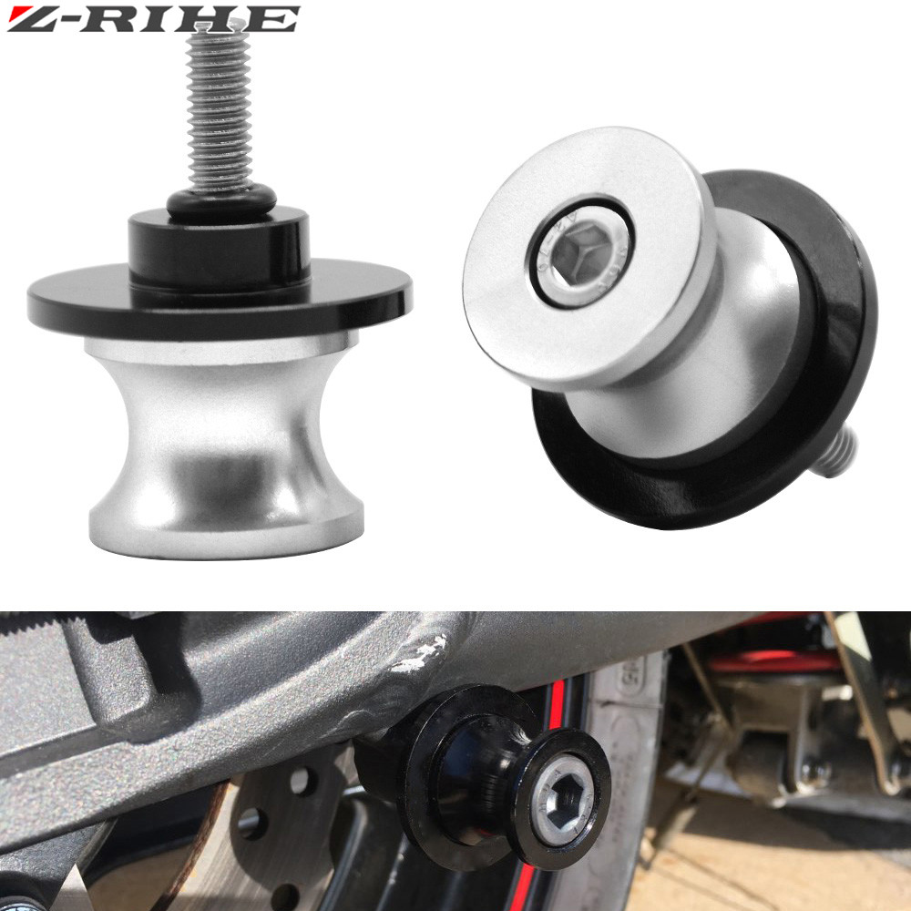 Motorcycle swing arm paddock stand bobbins 8mm Black For Honda Motorcycles