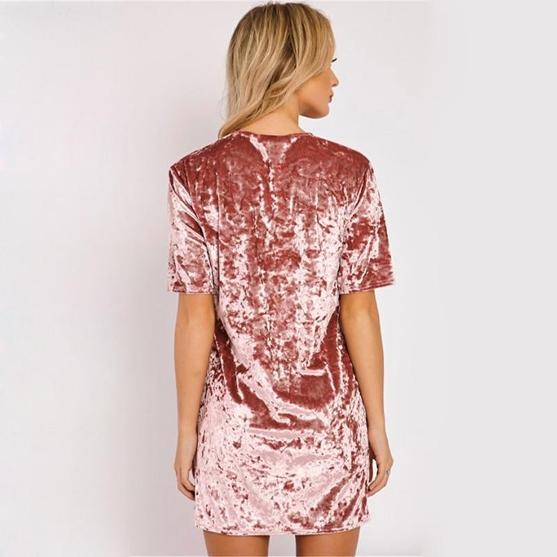Spring Summer velvet dress women short-sleeved HTB1QgCPlf2H8KJjy0Fcq6yDlFXaT