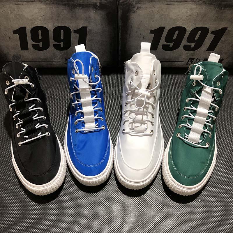 Cinza Zapatillas Flats Punk 02 Plataforma Streetwear Hip Do 04 Hops Alta Top 01 Sólida De Azul Causal Moda 2019 Homens Hombre Shoes Fivela 03 pqSYUwv