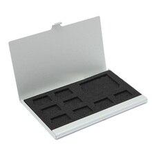9 держатель для карт памяти Micro-SD/SD, Защитный металлический чехол, 8 TF и 1 SD
