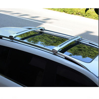 Terracan에 대한 도매 알루미늄 합금 크로스 바 슬리버와 블랙 컬러 지붕 랙
