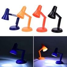 Складной светодиодный настольная лампа для чтения настольные лампы Свет защита глаз случайный цвет