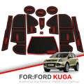 Almohadilla de ranura de puerta para Ford KUGA 2013-2019 Escape MK2 Facelift C520 2017 2018 almohadilla de puerta Interior soportes de taza de coche esteras antideslizantes