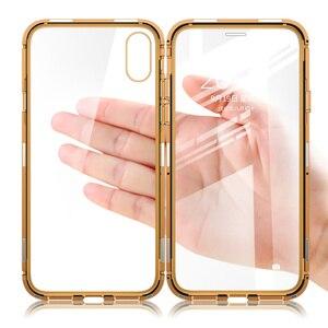 Image 2 - Suntaiho Magnetic สำหรับ iPhone XS Case XS MAX กระจกนิรภัยแบบ Dual การดูดซับแม่เหล็กสำหรับ iPhone 8 PLUS 7 XR ฝาครอบ