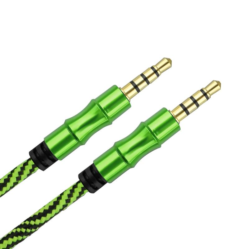 Cable de extensión 3,5, 4 polos, chapado en oro, macho a macho, AUX, adaptador de Jack 3,5, auriculares para teléfono, Cable de Audio, YS-306