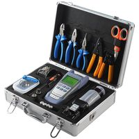 Fiber Optic splicer fusion Tool Kit with AUA 30S Fiber Cleaver and Optical Power Meter 10MW Visual Fault Locator, toolbox