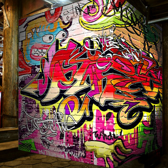3d mural graffiti effect engineering club bar ktv lounge for Club de suscriptores mural