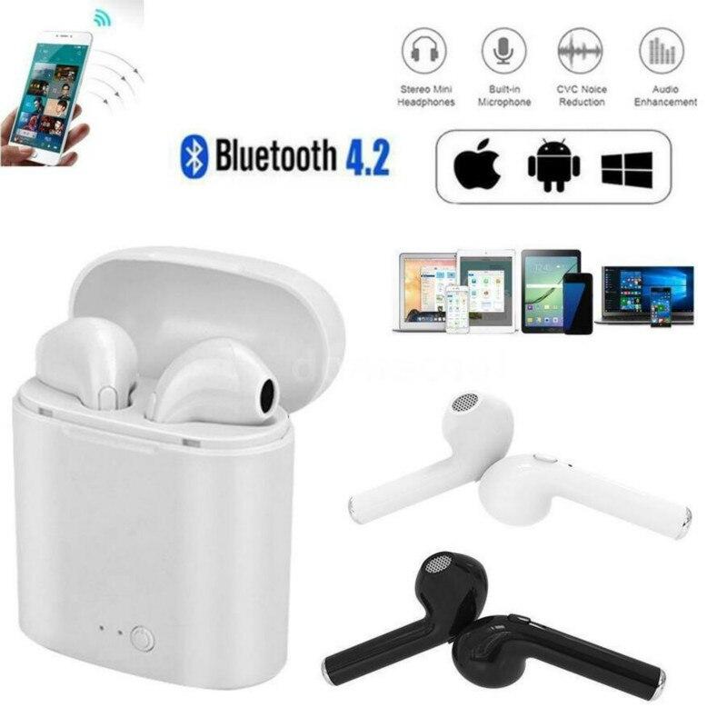 384b341f195 I7s Mini TWS Sem Fio Fone de Ouvido Bluetooth 5.0 Estéreo Fone de Ouvido  fone de Ouvido Fone De Ouvido Earpods para iPhone Xiaomi PK i10 i10s i12