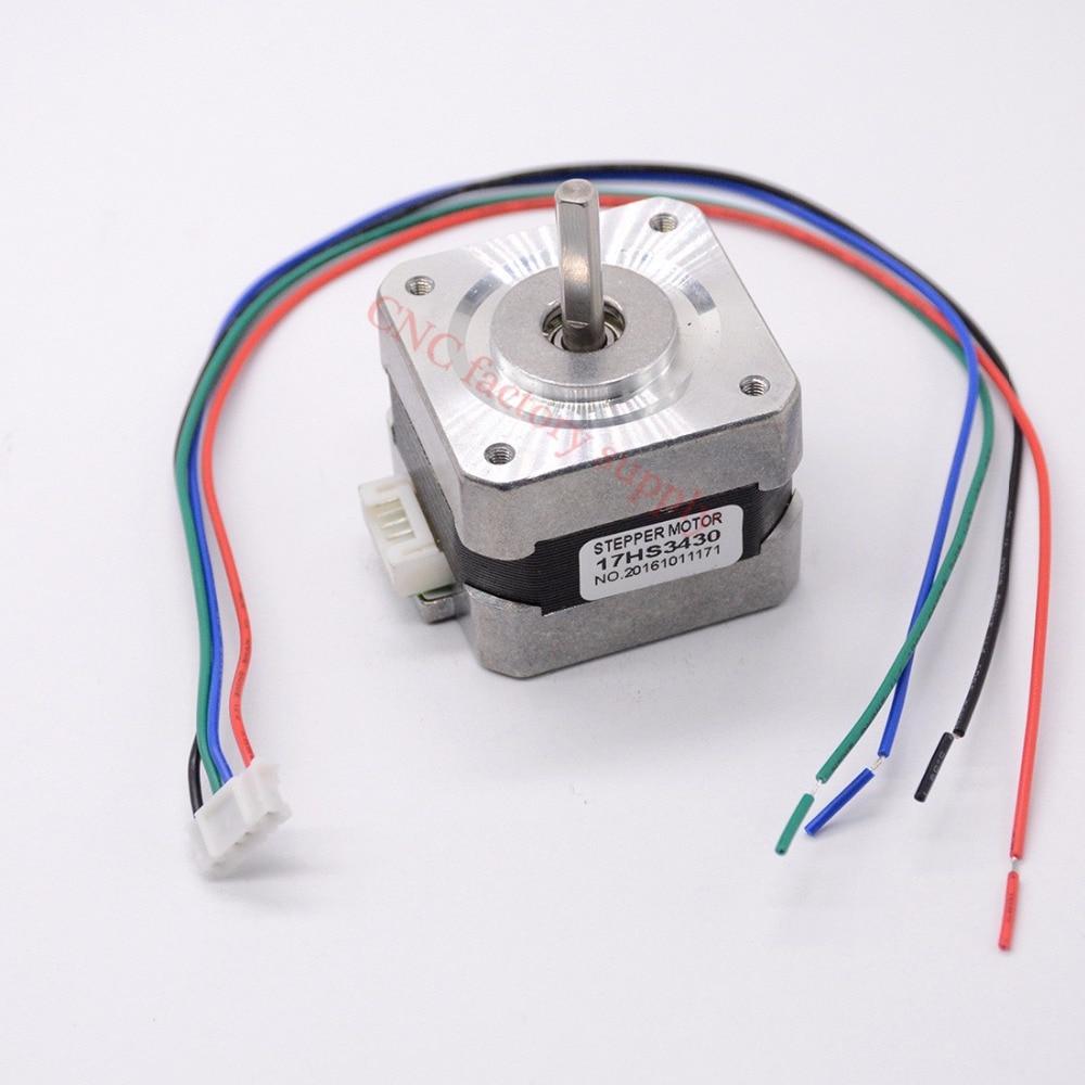 цена на Free shipping 1pc 4-lead Nema17 Stepper Motor 42 motor Nema 17 motor 42BYGH 0.4A (17HS3430) 3D printer motor and CNC