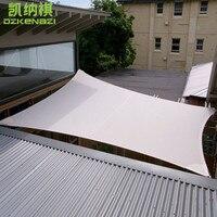 4x5 м/шт Открытый Водонепроницаемый солнцезащитный навес Комбинации с полиуретановым покрытием полиэфирной ткани, материал для бассейна