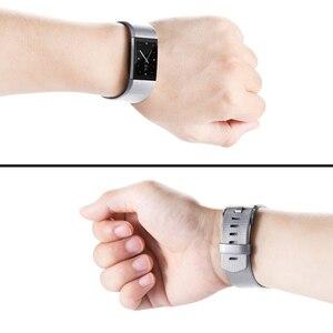 Image 5 - Honecumi correa de muñeca para Fitbit Charge 2, accesorio de reloj de TPU, correa de muñeca para Fitbit Charge 2, pulsera de oro Rosa/plata