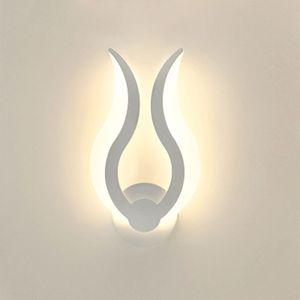 Image 3 - LED אור מודרני מנורת קיר אקריליק פמוט 10W AC90 260V מקורה אמבטיה חדר שינה סלון מסדרון אמנות קישוט