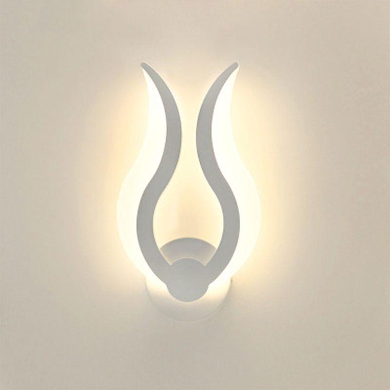 Image 3 - LED Light Modern Wall Lamp Acrylic Sconce 10W AC90 260V Indoor Bathroom Bedroom Living Room Hallway Art DecorationLED Indoor Wall Lamps   -