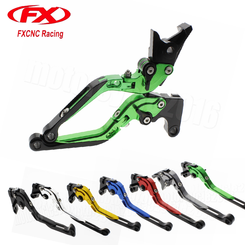 FXCNC Foldable/Extendable Motorcycle Brake Clutch Levers For Yamaha FZ1 FAZER 2001-2005 YZF R1/R6 2002-2003 Hydraulic brake  fxcnc aluminum adjustable motorcycles brake clutch levers for yamaha fzr600 1989 2003 2000 2001 2002 moto brake clutch lever