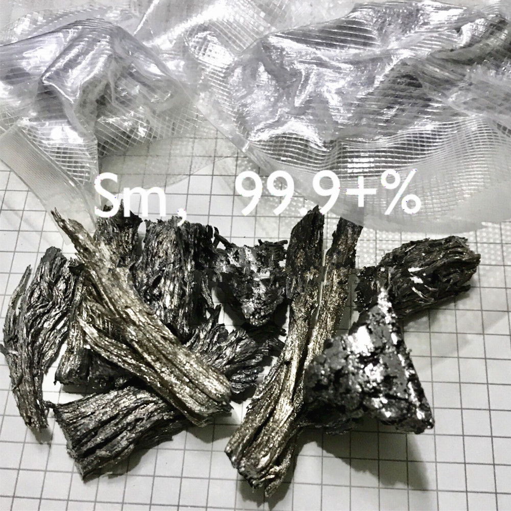 High Purity Samarium Sm Ingot Rare Earth 99.9% 4 Research And Development Element Metal Simple Substance